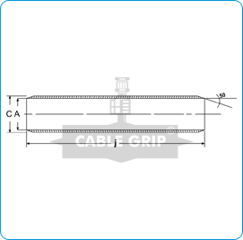 CGI Aluminium Ferrules for AL XLPE Conductors - Drawing